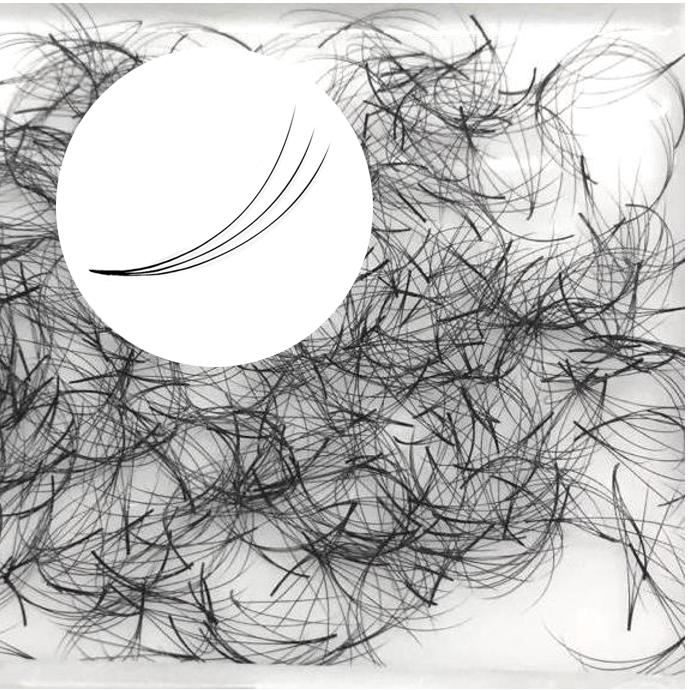 500 migliori ciglia pre-fatte, ciglia prive di nodi 3D, ideali per la tecnica del volume