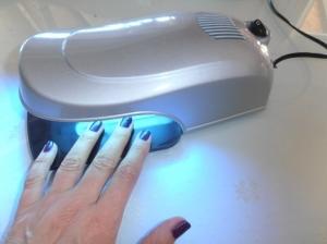 Pratica lampada UV 9W color argento per la ricostruzione delle unghie