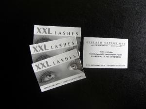 1000 biglietti da visita XXL Lashes personalizzati