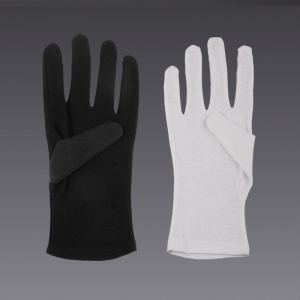 Guanti in cotone - in bianco e nero