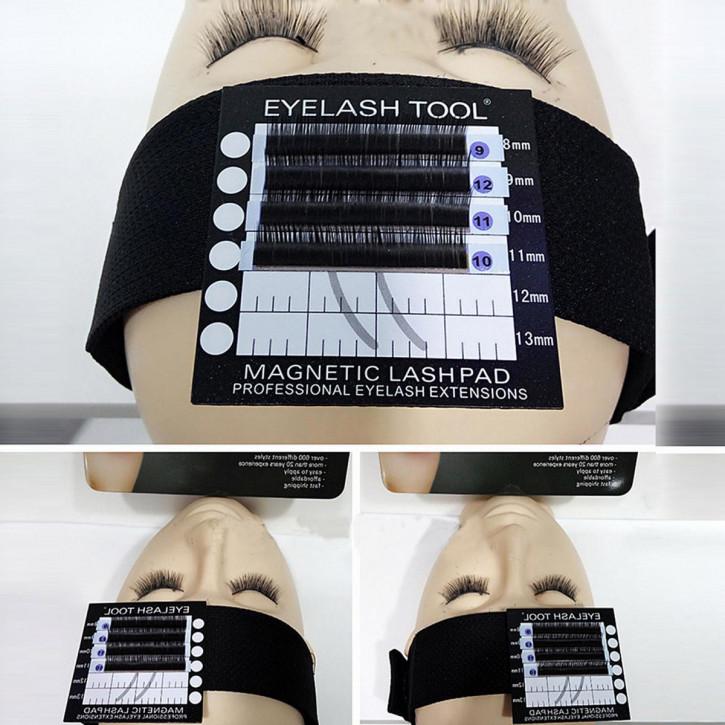 Porta-ciglia con banda per la fronte con cuscinetti magnetici per extension di ciglia