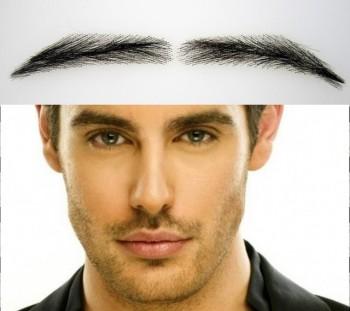 Sopracciglia artificiali, semipermanenti e folte per uomo fatte a mano, 100% capelli naturali - secondo acquisto a prezzo ridotto