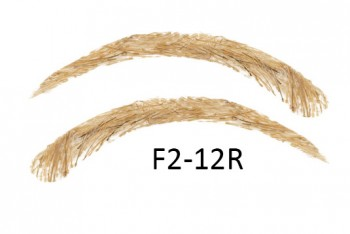 Soracciglia semi-permanenti 100% naturali - fatto a mano, F2-12R
