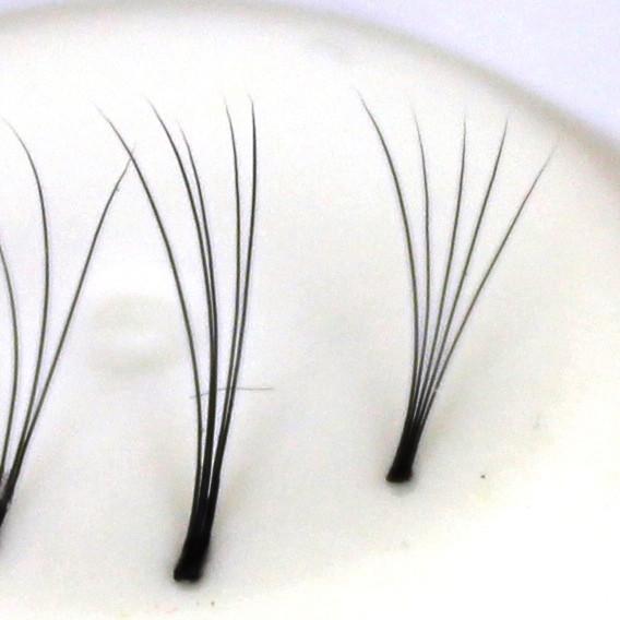 120 Ciglia Flare 5D ultra leggere, senza nodo| 0,12 mm de espesor | 12 mm di lunghezza | C-Curl