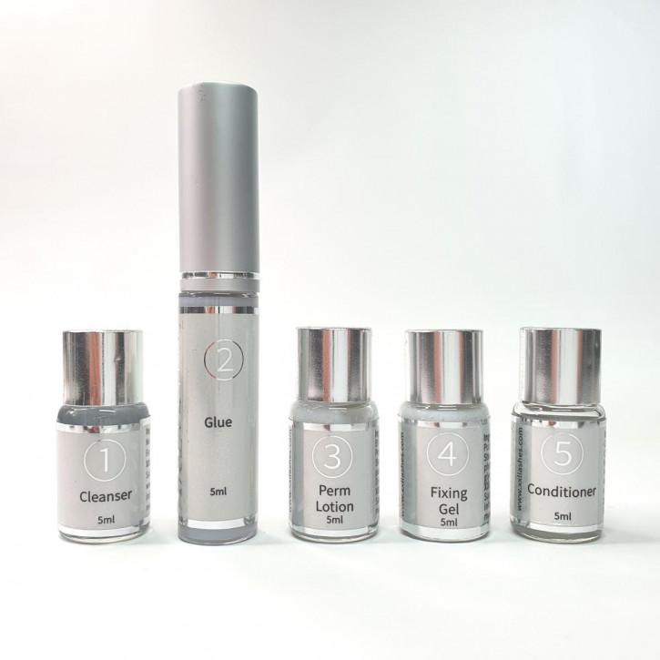 Lozioni Super Lash Lift Kit, bottiglie di ricarica individuali dal kit per il sollevamento delle ciglia