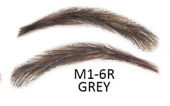 Soracciglia semi-permanenti 100% naturali - fatto a mano, M1-6R grey