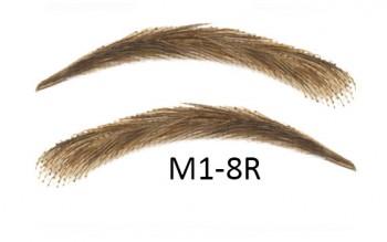 Soracciglia semi-permanenti 100% naturali - fatto a mano, M1-8R