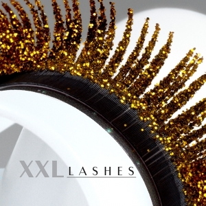 """""""Glitter"""" Mink eyelashes available in silver and gold - C-Curl, in 3 different lengths in a box - gold"""
