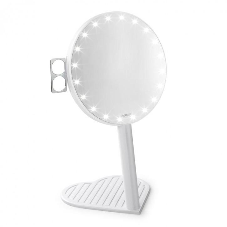Specchio ingranditore RIKI GRACEFUL 7x con illuminazione a LED e dimmeraggio a tre stadi, un nuovo prodotto nell'edizione Glamcor