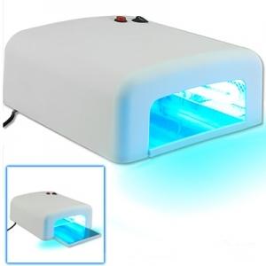 Lampada UV 36W per ricostruzione unghie, con timer e 4 bulbi a doppio pin inclusi