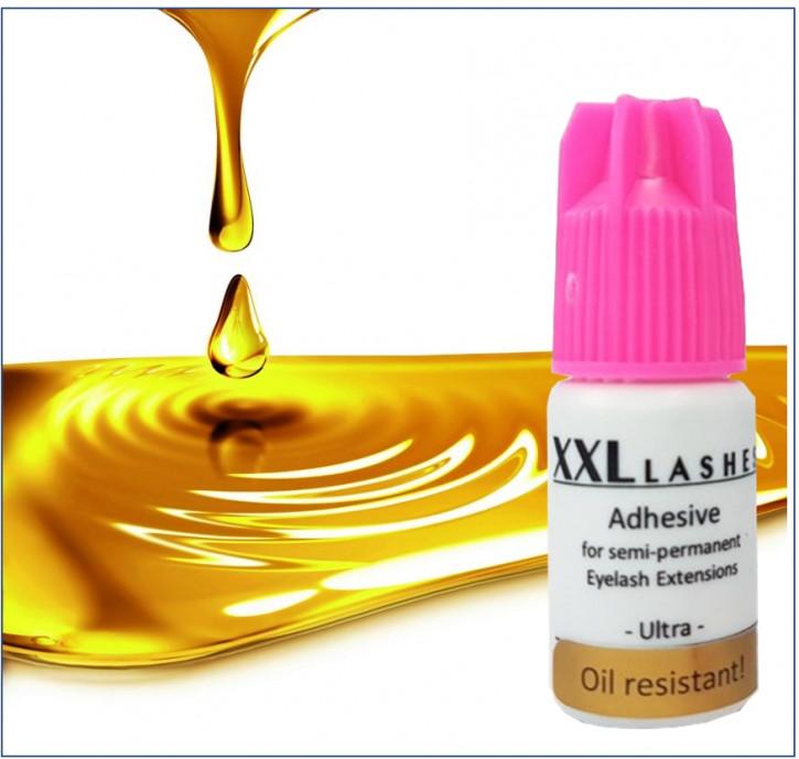 """Adesivo per ciglia XXL Lashes xD """"Ultra"""", resistente all'olio, alta durata, asciugatura rapida, impermeabile, 5 ml"""