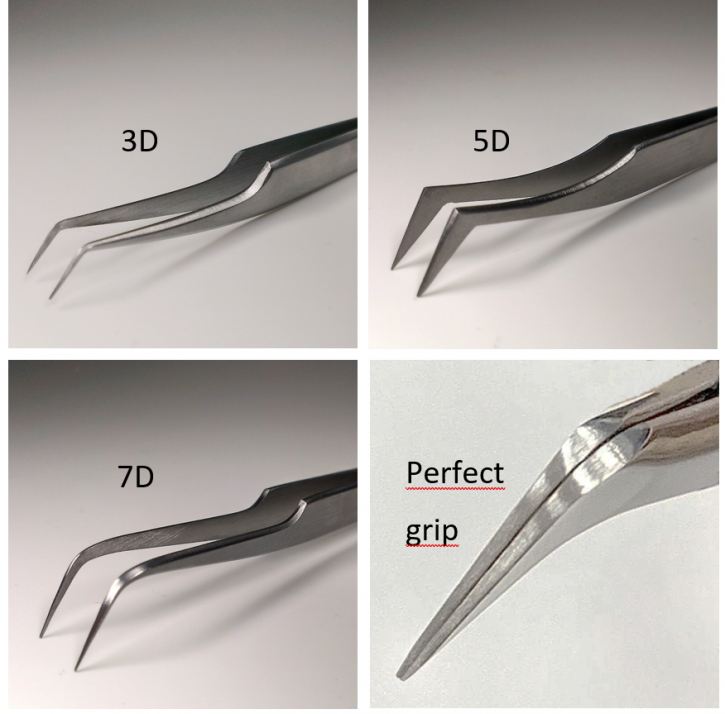 Pinzette per Tecnica di Volume XD,Tecnica di Volume Russa, estensioni di ciglia  3D, 5D o 7D