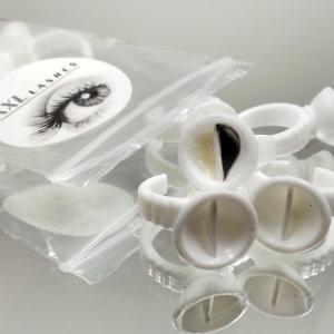 10 anelli con doppio scompartimento per colla / contenitori per tinta