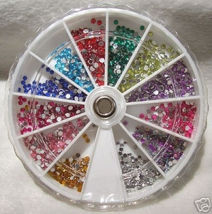 600 Strass in 12 differenti colori