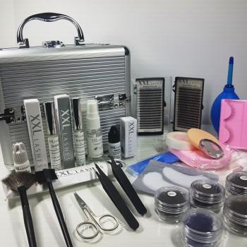 XXL Lashes Kit di design per le estensioni delle ciglia con molti strumenti