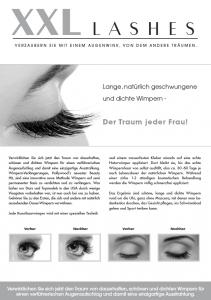"""100 Stk. Promotion Flyer A5 - """"occhio"""" - tedesco, con indirizzo"""