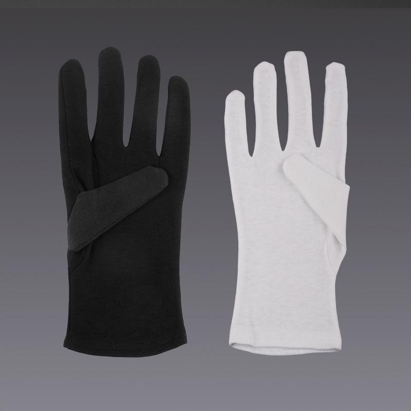Guanti bianchi di cotone 4df29bbbc853