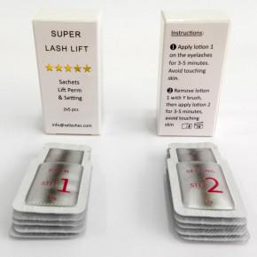 """10 bustine per il sollevamento e il trattamento delle ciglia e sopracciglia, gel per permanente e fissaggio il kit  """"Super Lash Lift Kit"""" di XXL Lashes"""