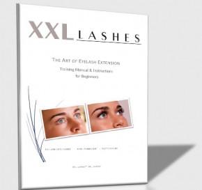 Starter kit XXL Lashes per estensioni delle ciglia, bella custodia nera con attrezzatura di base per stilisti principianti, incluso manuale