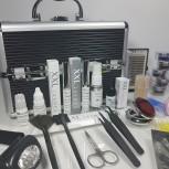 XXL Lashes Profi Kit - nero con telaio argento