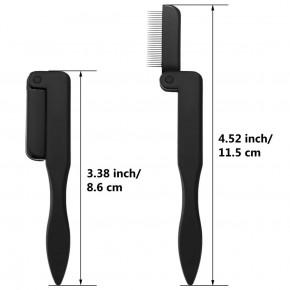 Pettine pieghevole per le ciglia, separatore pieghevole del mascara  con dentini in acciaio inossidabile, consigliato per le extension delle ciglia