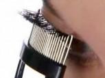 Pettine , separatore per ciglia con denti in acciaio inox ergonomici