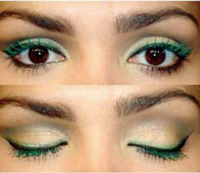 Mascara blu e verde a base d'acqua, mascara con un design chic perfetto per l'estensione delle ciglia